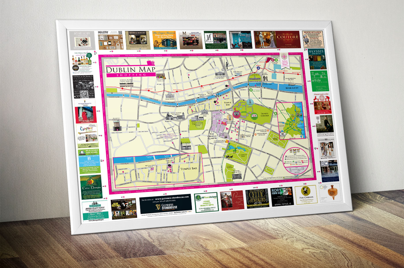 Dublin Tourism Map Web Design – Dublin Tourist Map
