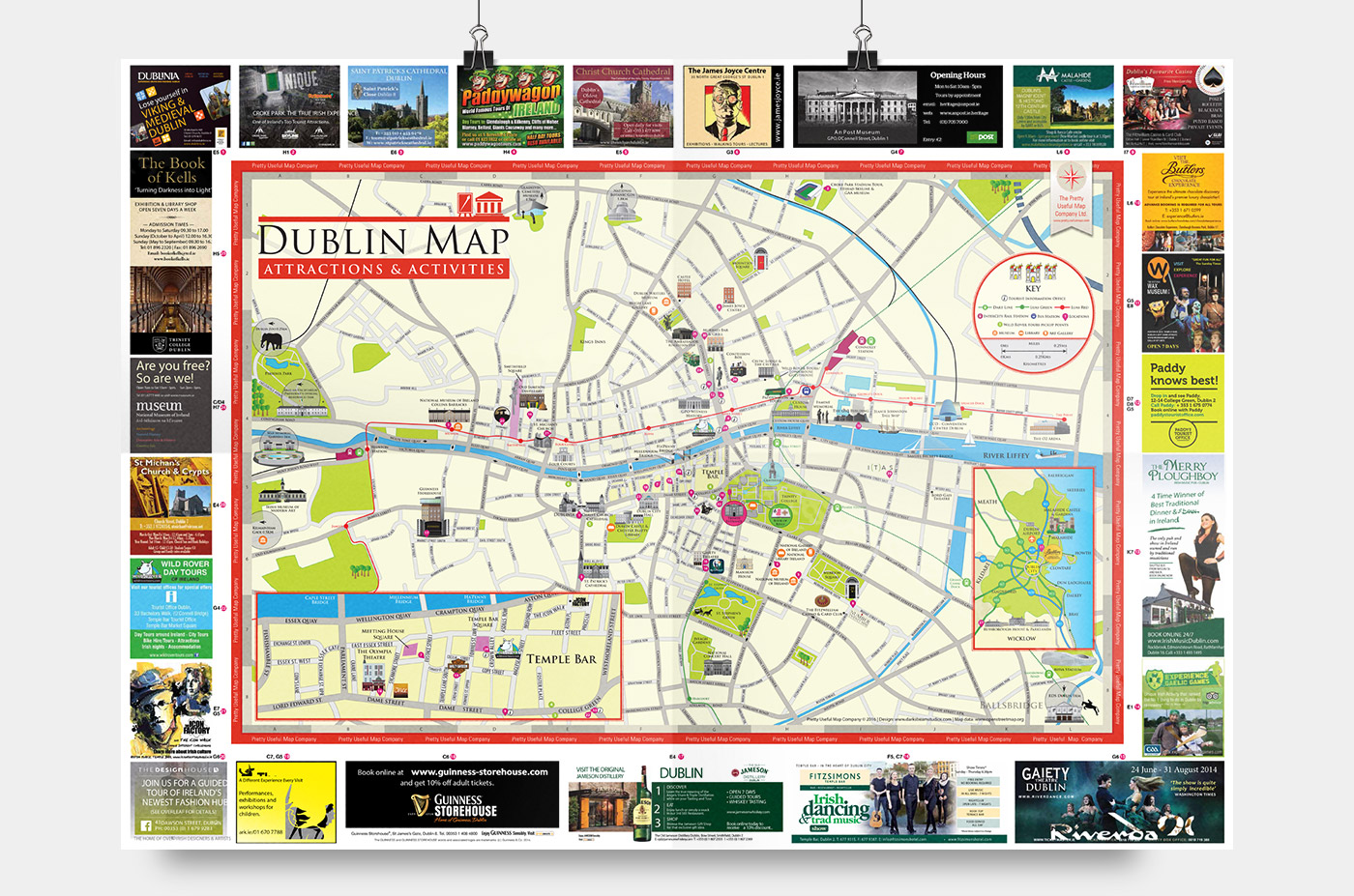 Dublin Attractions Map